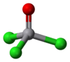 Ball and stick model of vanadium oxytrichloride