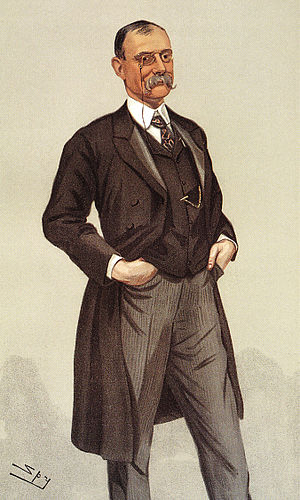 "Sir Frederick Treves, 1st Baronet - Vanity Fair caricature by ""Spy"" (1900)"