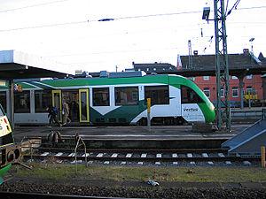 Limburg (Lahn) station - LINT 41 of vectus Verkehrsgesellschaft in Limburg station