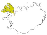 Västfjordarna, den isländska region varifrån handskrifterna med pidginspråket kommer.