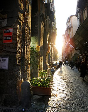 Via dei Tribunali, Naples - Via dei Tribunali, also said Decumanus Maximus