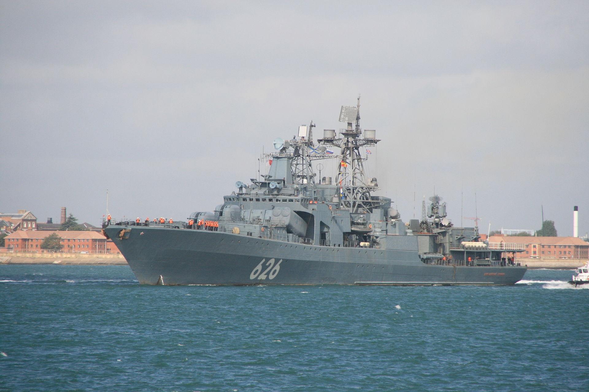 """1920px-Vice_Admiral_Kulakov-3 """"Вице-адмирал Кулаков"""" - большой противолодочный корабль проекта 1155 - Независимый проект =Морская Пехота России="""