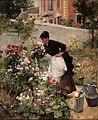 Victor-Gabriel-Gilbert Jeune-femme-dans-le-jardin-fleuri.jpg