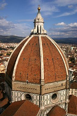View of the Duomo's dome, Florence
