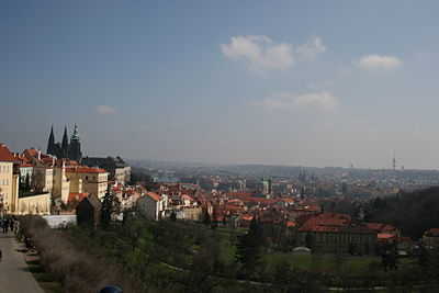 View over Prague (Castle on the left)