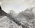 Views of West Temple, Streaked Wall, and Sentinel Peak - guide for art work in exhibits. ; ZION Museum and Archives Image 007 01 (2e8cdffb08b5484c924f400b5ca710cf).jpg