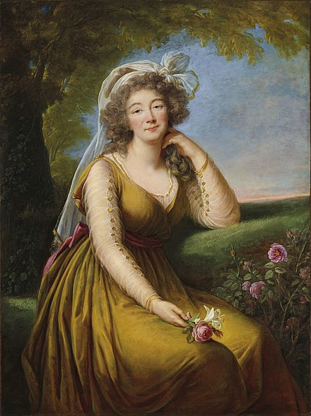 Madame du Barry, by Elisabeth-Louise Vigee Le Brun (posthumous, between 1789 and 1805) Vigee-Lebrun - Du Barry.jpg