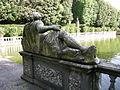 Villa reale di marlia, giardino dei limoni, vasca 07 statua divinità fluviale.JPG