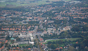 Village centre of Mortsel, Belgium (aerial view).jpg