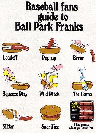 Ball Park Franks - Image: Vintage Ad 780 Baseball Fans Guide to Ball Park Franks (3415970199)