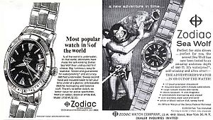 Zodiac Watches - Vintage Sea Wolf ad