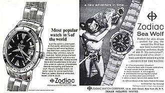 Zodiac Watches - Vintage Sea Wolf ad