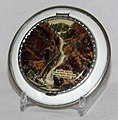 Vintage Souvenir Women's Powder Compact, Seven Falls, Pikes Peak Region, Colorado, Measures 2.75 Inches In Diameter (21246996018).jpg