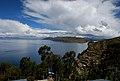 Vista del Lago Titicaca desde la Isla del Sol, Bolivia.JPG
