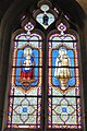 Vitrail Ch. Lorin 1923 Vierge à l'Enfant église Notre-Dame Chapelle-Royale Eure-et-Loir France.jpg