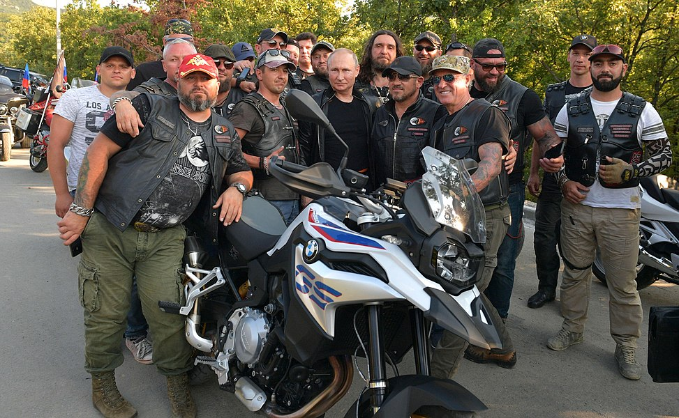 Vladimir Putin with Night Wolves Motorclub (2019-08-10) 11.jpg