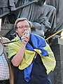 Volodymyr Chystylin at demonstration in support of Ukrainian language bill in Kharkiv 04.2019 (01).jpg