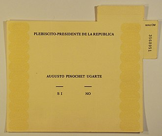 1988 Chilean national plebiscite - Original ballot.
