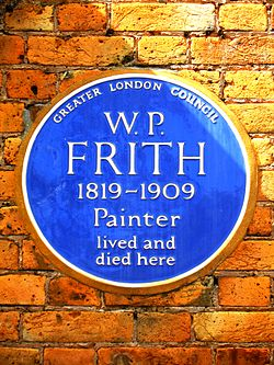 W.p. frith 1819 1909 painter lived and died here