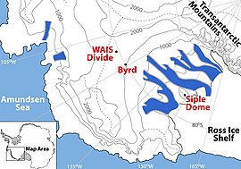Detailed Map of the WAIS Divide Region