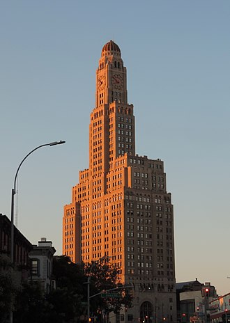 Phallic architecture - The Williamsburgh Savings Bank Tower at One Hanson Place in Brooklyn, New York