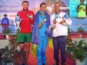 Winners of Women 50m Freestyle at the 2007 World Deaf Swimming Championships.