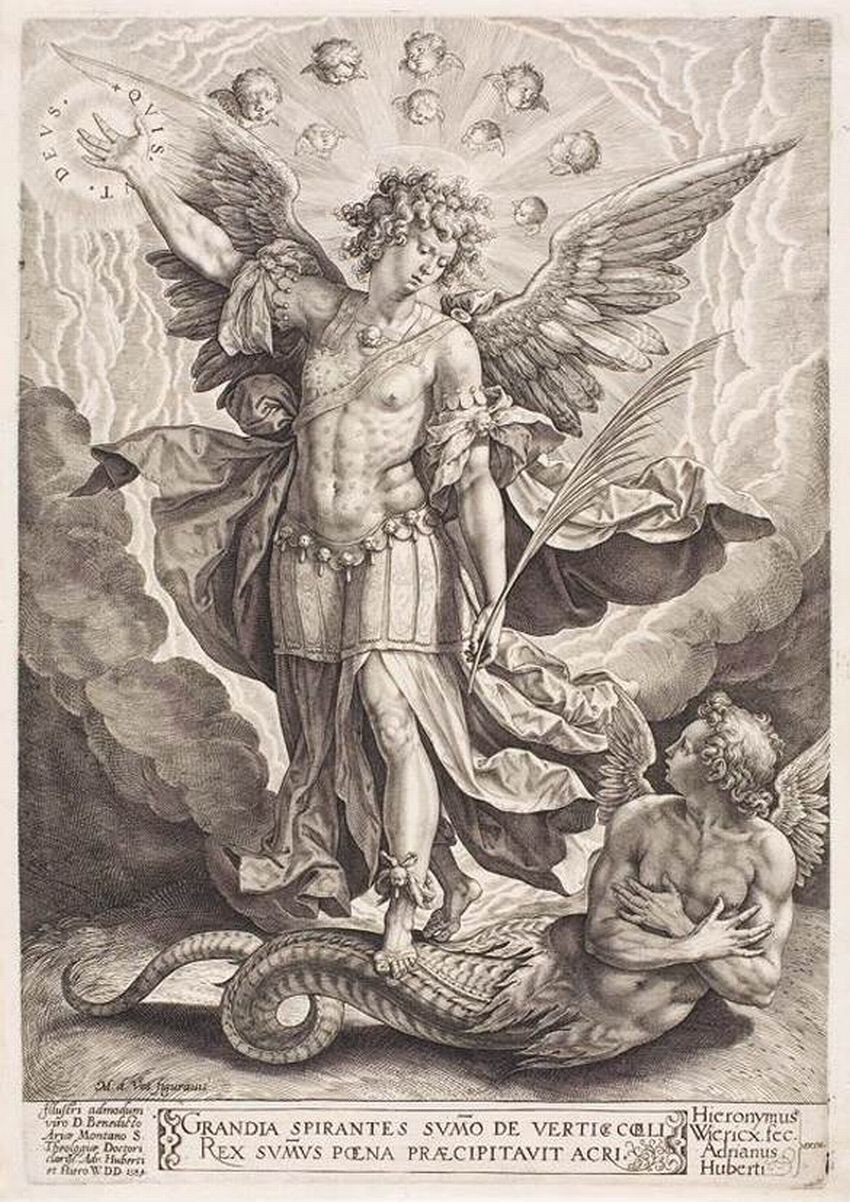 WIERIX, Hieronymus St Michael Slaying the Dragon 1584