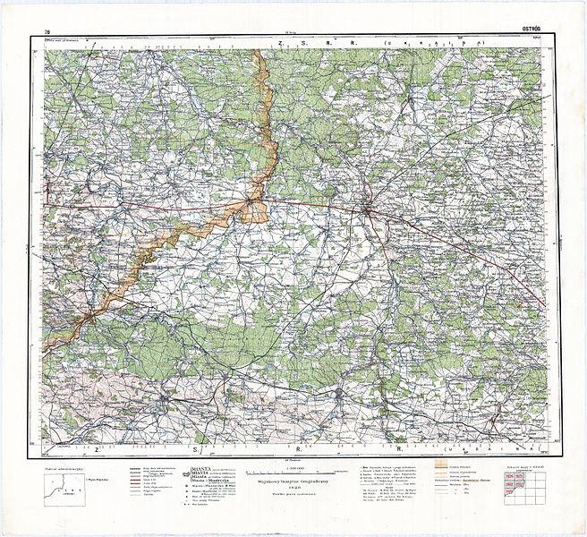 File Wig Mapa Operacyjna Polski 78 Ostrog 1929 Jpg Wikimedia