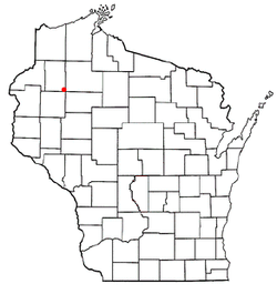 Location of Birchwood, Wisconsin