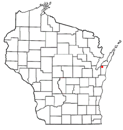 Location of Red River, Wisconsin