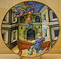 WLANL - MicheleLovesArt - Museum Boijmans Van Beuningen - Istoriato schotel, Daniel in de leeuwenkuil.jpg