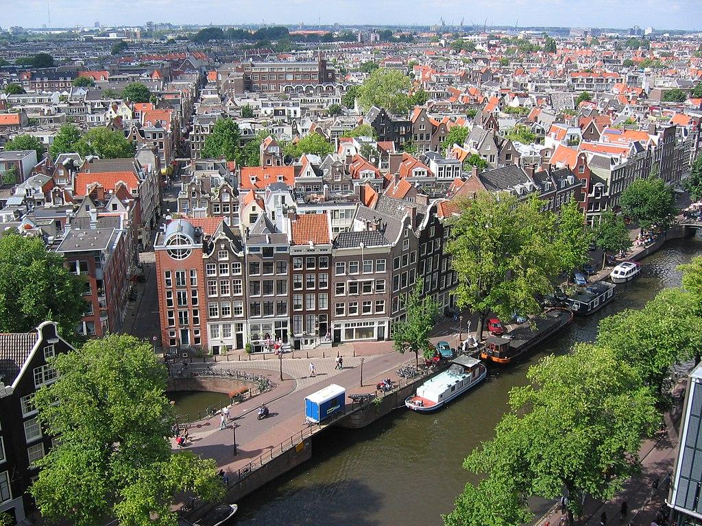 Vue sur le quartier de Jordaan depuis la Westerkerk à Amsterdam - Photo de Minke Wagenaar