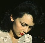 WWII Woman aircraft inspector checking electrical assemblies, Vega Aircraft Corporation, Burbank, California in June 1942 (cropped 2).jpg