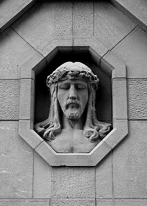 World War I cemetery nr 225 - Brzostek, Poland. Head of Jesus
