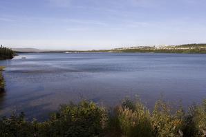 View across Jean Lake to Wabush