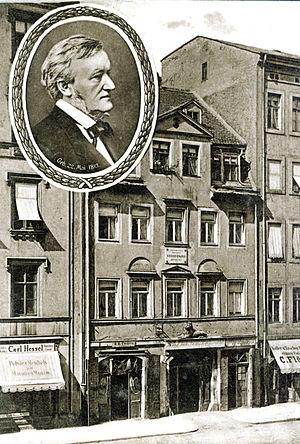 English: The birthhouse of Richard Wagner in 1...