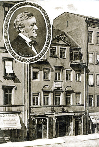 Brühl (Leipzig) - Birth house of Richard Wagner in the Brühl in 1885