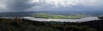 Lake Waihola - Image: Waihola panorama