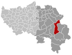 Waimes - Image: Waimes Liège Belgium Map