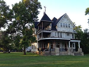 National Register of Historic Places listings in Macon County, Missouri - Image: Wardell House, Macon MO 2015
