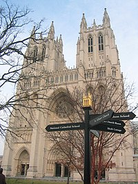 The Washington National Cathedral, located in the capital.