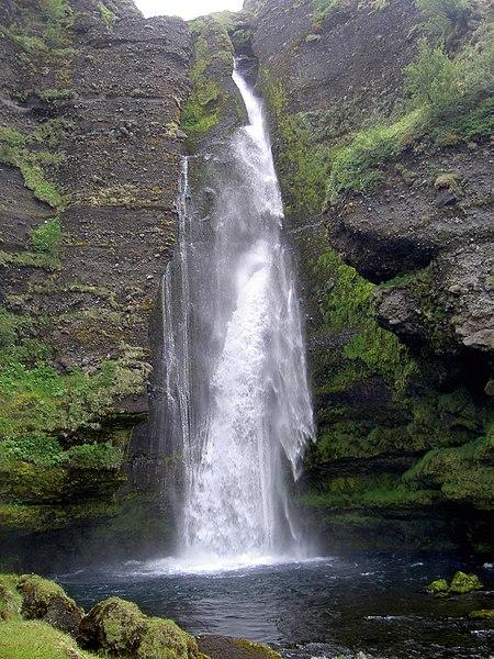 File:Waterfall near Keldur.JPG