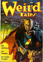 Weird Tales cover image for July 1954