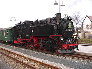 750 mm gauge railways - Locomotive 99 1746 of the Weisseritz Valley Railway in Germany