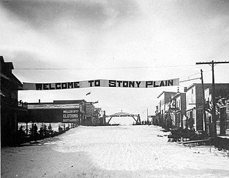 Stony Plain, Alberta - Image: Welcome to Stony Plain, Alberta (circa 1912)