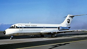 West Coast Airlines McDonnell Douglas DC-9 N9102.jpg