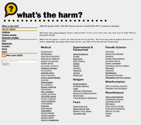 What's The Harm? main page.