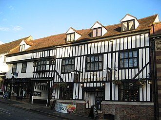 History of St Albans - St Albans has many old coaching inns (pictured: The White Hart, Hollywell Hill)