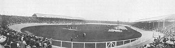 The White City Stadium during the 1908 Summer Olympics