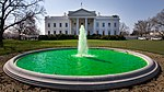 White House fountain dyed green for Saint Patrick's Day 2011.jpg